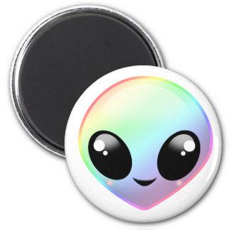 Chibi Rainbow Alien Magnet