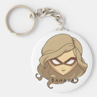 Chibi Sahara Button Keychain