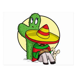 chibi sombrero postcard