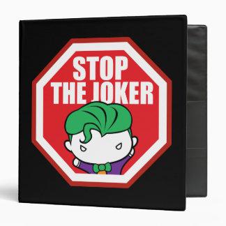 """Chibi """"Stop The Joker"""" Sign 3 Ring Binder"""