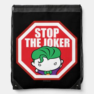 """Chibi """"Stop The Joker"""" Sign Drawstring Bag"""