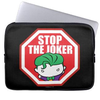 "Chibi ""Stop The Joker"" Sign Laptop Sleeve"