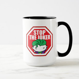 "Chibi ""Stop The Joker"" Sign Mug"