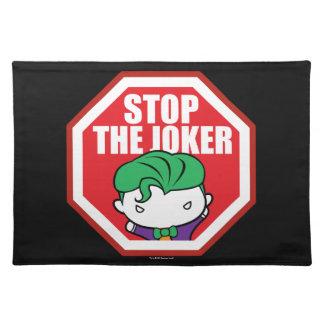 """Chibi """"Stop The Joker"""" Sign Placemat"""