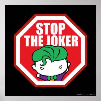 "Chibi ""Stop The Joker"" Sign Poster"