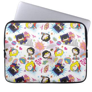 Chibi Super Heroine Pattern Laptop Sleeve