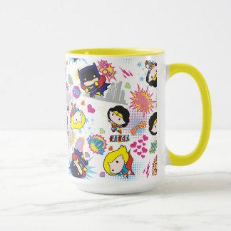 Chibi Super Heroine Pattern Mug
