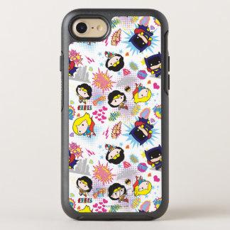 Chibi Super Heroine Pattern OtterBox Symmetry iPhone 8/7 Case