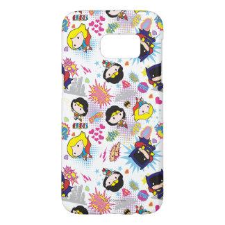 Chibi Super Heroine Pattern Samsung Galaxy S7 Case