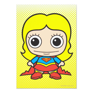 "Chibi Supergirl 5"" X 7"" Invitation Card"