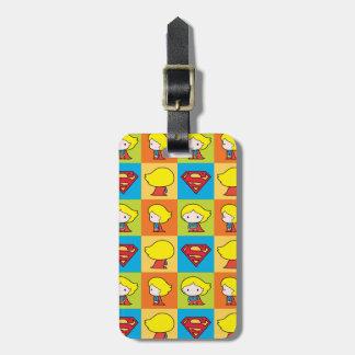 Chibi Supergirl Character Turnaround Bag Tag