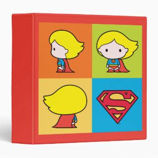 Chibi Supergirl Character Turnaround Binder