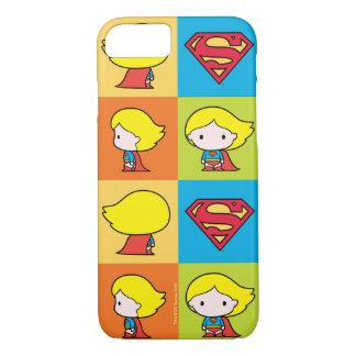 Chibi Supergirl Character Turnaround iPhone 8/7 Case