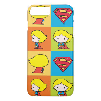 Chibi Supergirl Character Turnaround iPhone 8 Plus/7 Plus Case