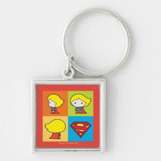 Chibi Supergirl Character Turnaround Keychain