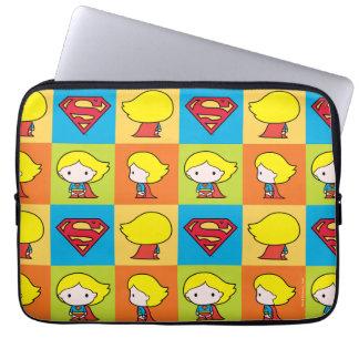Chibi Supergirl Character Turnaround Laptop Sleeve