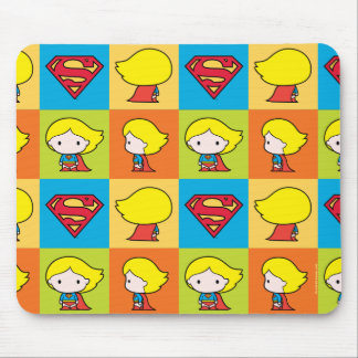 Chibi Supergirl Character Turnaround Mouse Pad