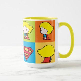 Chibi Supergirl Character Turnaround Mug