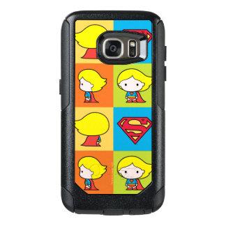 Chibi Supergirl Character Turnaround OtterBox Samsung Galaxy S7 Case