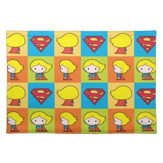 Chibi Supergirl Character Turnaround Placemat