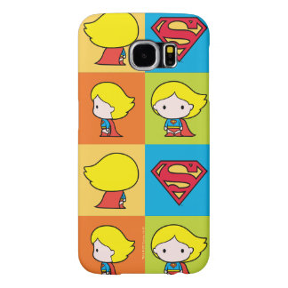Chibi Supergirl Character Turnaround Samsung Galaxy S6 Cases