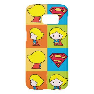 Chibi Supergirl Character Turnaround Samsung Galaxy S7 Case