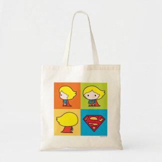 Chibi Supergirl Character Turnaround Tote Bag