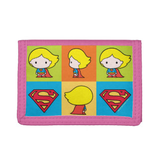 Chibi Supergirl Character Turnaround Tri-fold Wallet