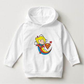 Chibi Supergirl Flying Rainbow Hoodie