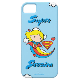 Chibi Supergirl Flying Rainbow iPhone 5 Cover
