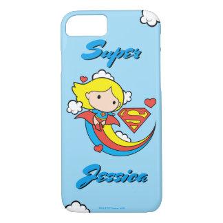Chibi Supergirl Flying Rainbow iPhone 7 Case