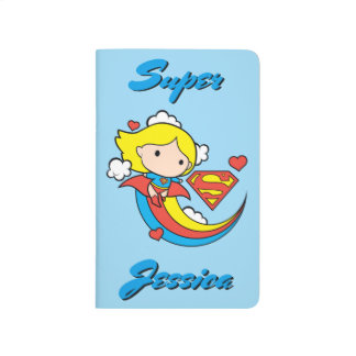 Chibi Supergirl Flying Rainbow Journals