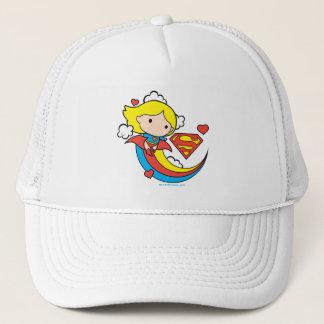 Chibi Supergirl Flying Rainbow Trucker Hat