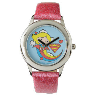 Chibi Supergirl Flying Rainbow Watches