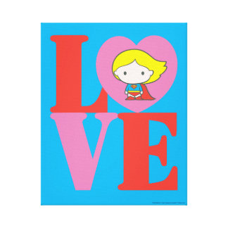 Chibi Supergirl LOVE Canvas Print