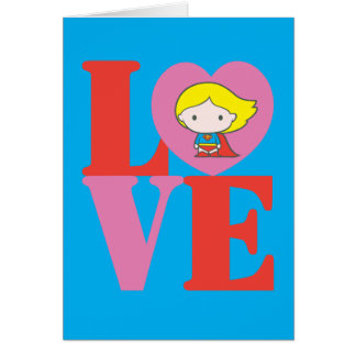 Chibi Supergirl LOVE Card