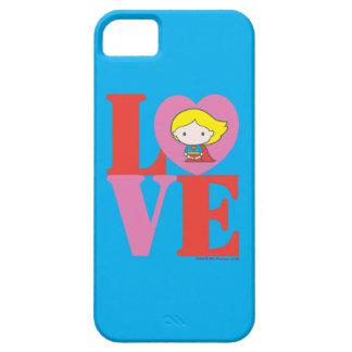Chibi Supergirl LOVE iPhone 5 Cases