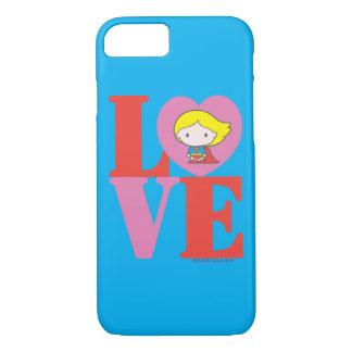 Chibi Supergirl LOVE iPhone 8/7 Case