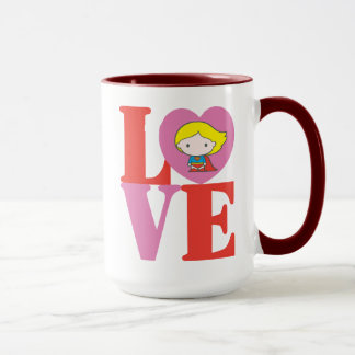 Chibi Supergirl LOVE Mug