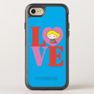 Chibi Supergirl LOVE OtterBox Symmetry iPhone 8/7 Case
