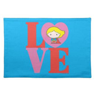 Chibi Supergirl LOVE Placemat