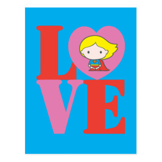 Chibi Supergirl LOVE Postcard