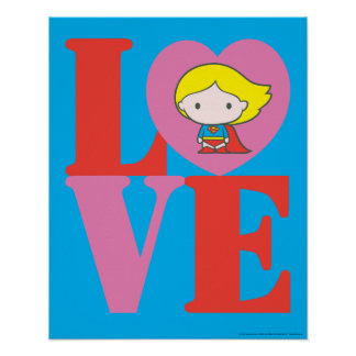 Chibi Supergirl LOVE Poster