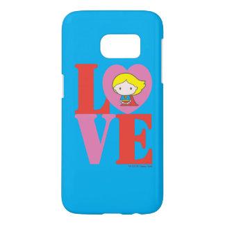 Chibi Supergirl LOVE Samsung Galaxy S7 Case