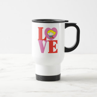 Chibi Supergirl LOVE Travel Mug
