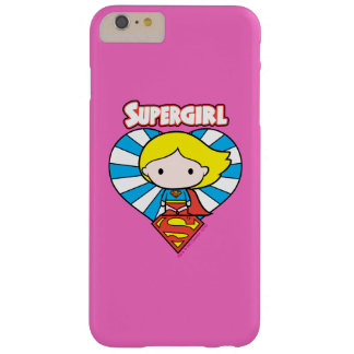 Chibi Supergirl Starburst Heart and Logo Barely There iPhone 6 Plus Case
