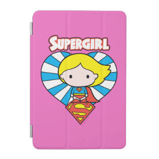Chibi Supergirl Starburst Heart and Logo iPad Mini Cover