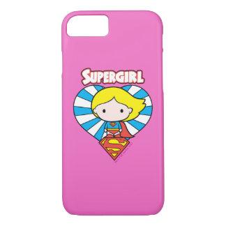 Chibi Supergirl Starburst Heart and Logo iPhone 8/7 Case