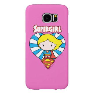 Chibi Supergirl Starburst Heart and Logo Samsung Galaxy S6 Cases