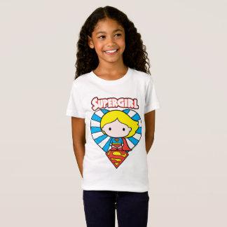 Chibi Supergirl Starburst Heart and Logo T-Shirt